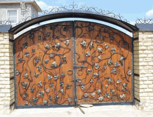 Фото как сделать кованые ворота